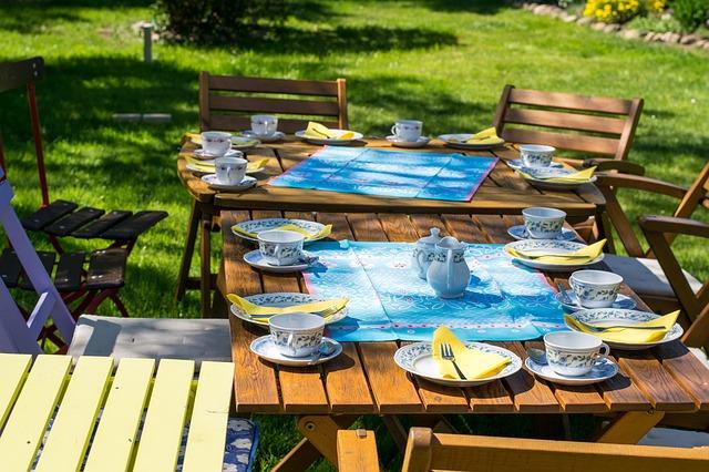 zomer, tuintafel