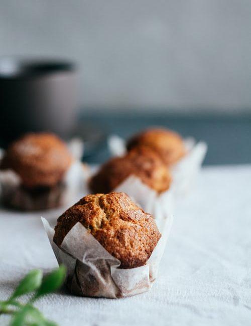 Gember peer muffin